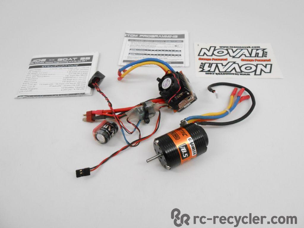 Novak #3028 Goat 3S Brushless ESC Ballistic 18.5 Sensored ...