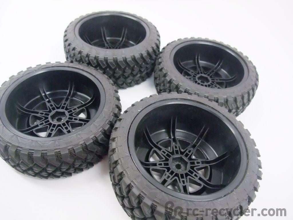 Axial Exo Tire : Axial hankook front rear dynapro tires renegade wheels exo
