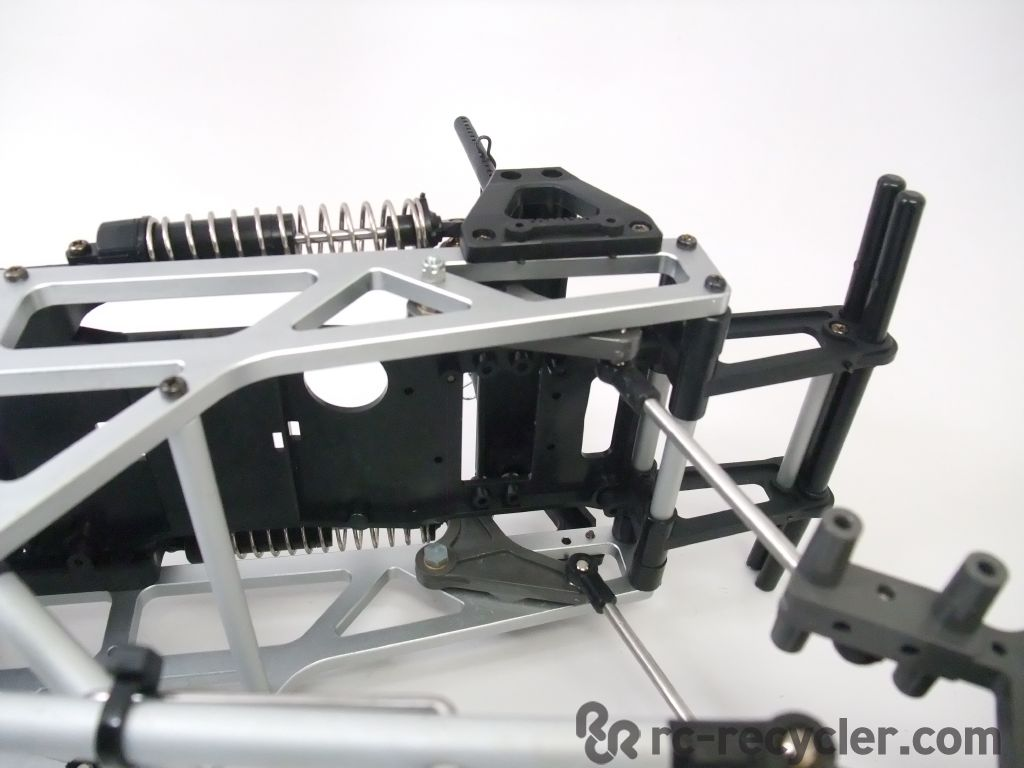 Tamiya txt 1 aluminum cantilever chassis links spring for Chassis aluminium