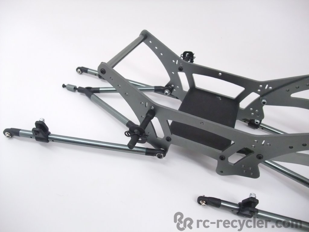 Exceed rc 6x6 mad torque 1 8 aluminum chassis suspension for Chassis aluminium