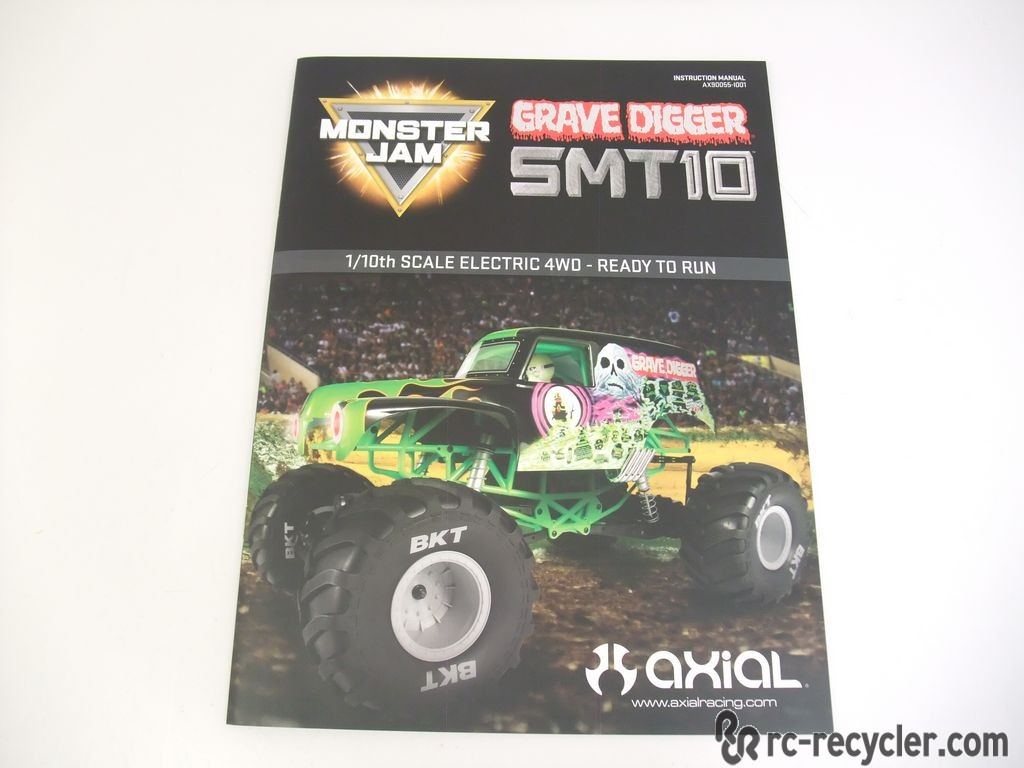 Axial SMT10 Monster Jam Grave Digger 1/10th Scale Electric ...