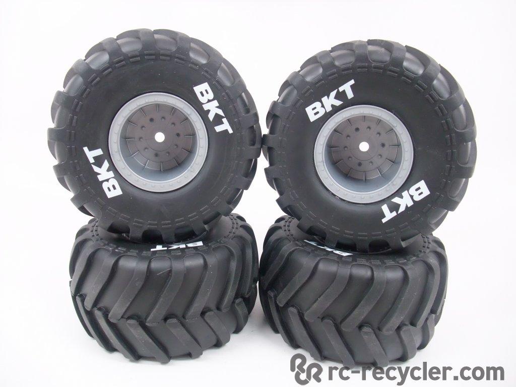 (4) Axial BKT 2.2 Monster Jam Truck Tires Wheels SMT10 ...